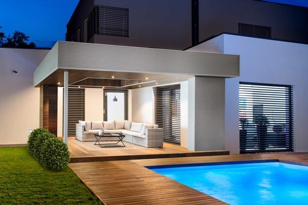 aanbouw pool house pergola